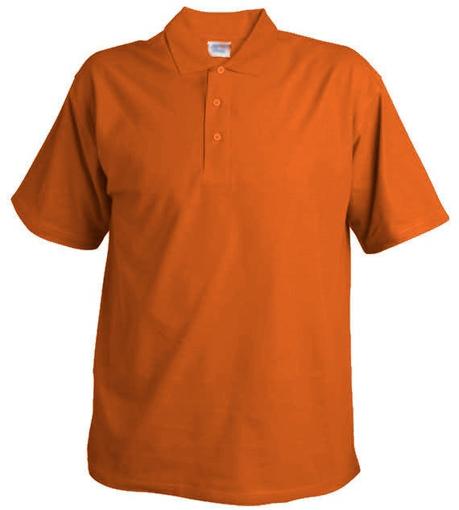Obrázek z Pánská hladká polokošile Chok 190 oranžová