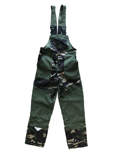 Obrázek z M+P DAVID Dětské pracovní kalhoty s laclem khaki/maskáč