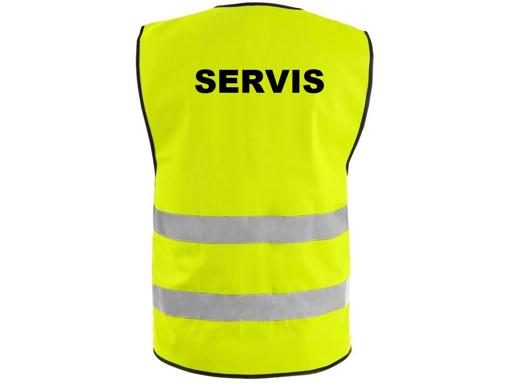 Obrázek z Reflexní vesta žlutá + LOGO: SERVIS