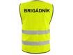 Obrázek z Reflexní vesta žlutá + LOGO: BRIGÁDNÍK