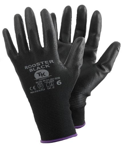 Obrázek z T-K ROOSTER Pracovní rukavice černé